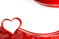 Background abstract red heart frame illustration Royalty Free Stock Images
