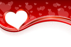 Background abstract red heart frame illustration Stock Photo