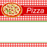 Background abstract red menu pizza green stripes frame illustration Stock Images