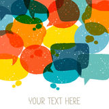 Background with abstract retro grunge speech Royalty Free Stock Images