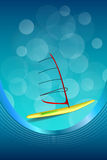 Background abstract sea sport holidays design red green windsurfing blue frame vertical ribbon illustration Royalty Free Stock Photo