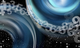 Background abstract sky numbers. Background abstract sky, cloud numbers, stars and blue shades Royalty Free Stock Images