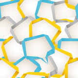 Background of abstract speech bubbles Stock Photo