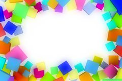 Background with abstract squares. Royalty Free Stock Photo