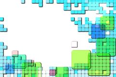 Background with abstract squares. Royalty Free Stock Image