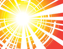 Background abstract sun rays Stock Image