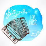 Background with accordion Royalty Free Stock Photo