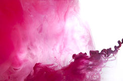 Background of acrylic paint in the water. Royalty Free Stock Photo
