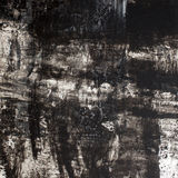 Background acrylic texture. Texture of acrylic painting, black and white colors, rough strokes Stock Photography