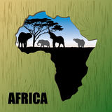 Background of Africa Royalty Free Stock Images