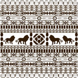Background with African ethnic motifs Royalty Free Stock Photography