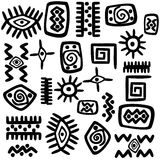 Background with African motifs Royalty Free Stock Photo