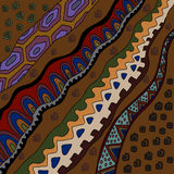 Background with african motives. Illustration with african patterns.Background with decorative patterns Stock Photo
