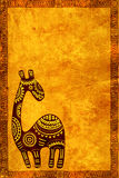 Background with African traditional animal Royalty Free Stock Image