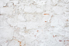 Background of age grungy texture white brick and stone wall. Old modern and contemporary empty interior. Old brick wall, Brick texture Stock Photos