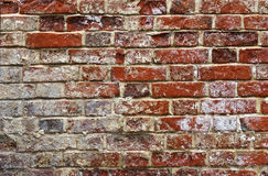 Background-aging brickwork on lime solution. Royalty Free Stock Photo
