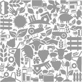 Background agriculture. Background on a theme agriculture. A vector illustration Royalty Free Stock Photos