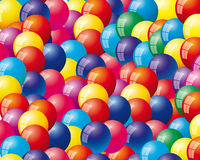 Background with air balloons. A vector background with air balloons stock illustration