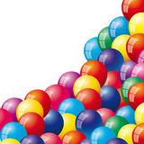 Background with air balloons Stock Image