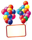 Background with air balloons Royalty Free Stock Photos