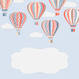 Background with air balloons. Vector colorful background with air balloons and space for text Royalty Free Stock Photo