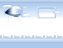 Background with airship royalty free stock photography