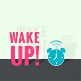 Background with alarm clock Stock Photos