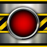 Background with alarm red button Royalty Free Stock Photography
