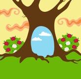 Background for Alice in Wonderland. Vector illustration  on white background Stock Images
