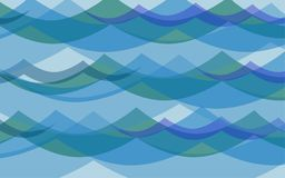 Background all waves ocean Royalty Free Stock Image