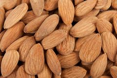 Background almonds Stock Photos