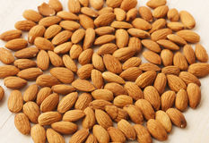 Background almonds Royalty Free Stock Photos