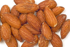 Background Of Almonds Salted/ Horizontal Shot Royalty Free Stock Image