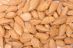 Background of almonds in shell Royalty Free Stock Photos