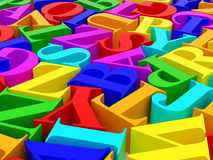 Background of alphabets Stock Photo