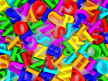 Background of alphabets. High resolution image. 3d rendered illustration. Background of alphabets Stock Photos
