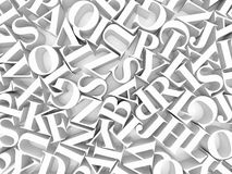 Background of alphabets. High resolution image. 3d rendered illustration. Background of alphabets Stock Photo