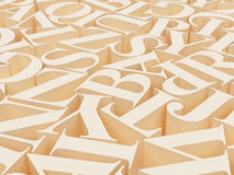 Background of alphabets Stock Images