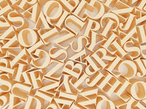 Background of alphabets Stock Photography
