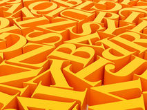 Background of alphabets Stock Image