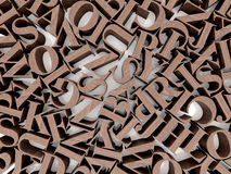 Background of alphabets Royalty Free Stock Photo