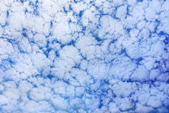 Background of altocumulus clouds Stock Images
