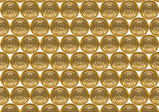 Background of aluminum cans for drinks. Royalty Free Stock Photo
