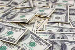 Background with american  dollar bills Stock Image