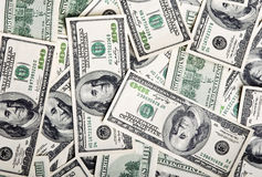 Background of american dollars Stock Photos