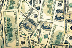 Background of american dollars Stock Photography
