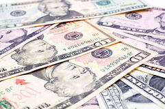 Background of American dollars Royalty Free Stock Photo