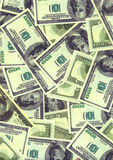 Background from  American  dollars denominations. Background from the American one hundreds dollars denominations close up Royalty Free Stock Image
