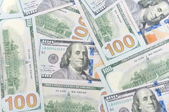 Background of American dollars. horizontal photo. Royalty Free Stock Images