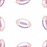 Background for American football. Ball Stock Photo